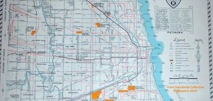 1947 Chicago Society of Industrial Engineers Map